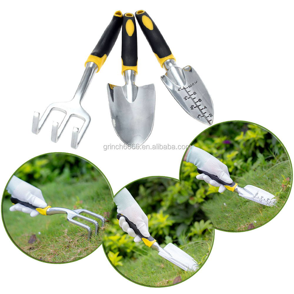 Garden Tool Set Transplanter + Trowel + Rake for Lawn Gardening Hand Tools Yard Gadgets Plants Tools Gardening Shovel 3pcs/set