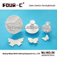 Large butterfly plastic plunger cutters,high quality cake decorating tools