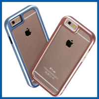 C&T Clear Back Aluminum Metal Bumper Case for iphone 6 Plus