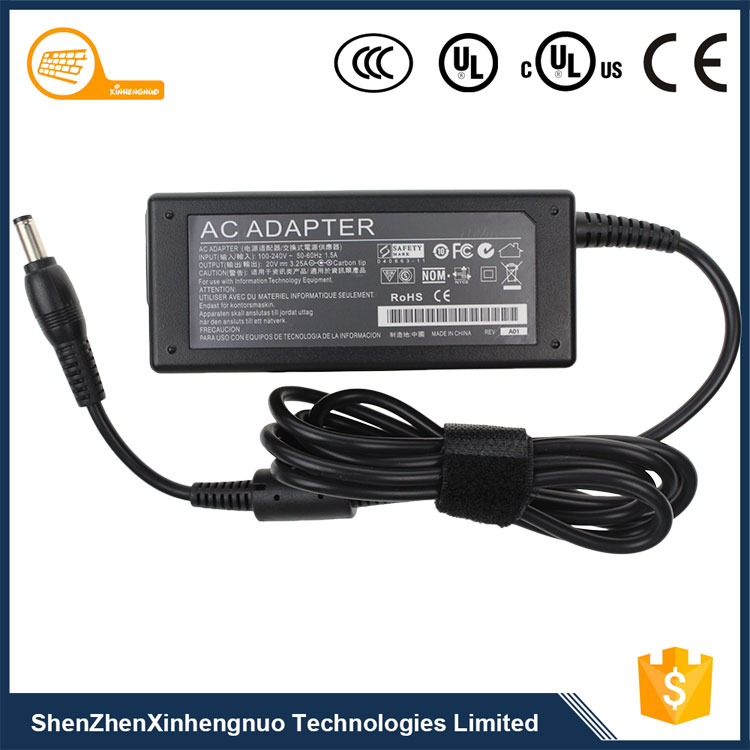 20V 3.25A 65W High quality universal travel <strong>adapter</strong> for lenovo