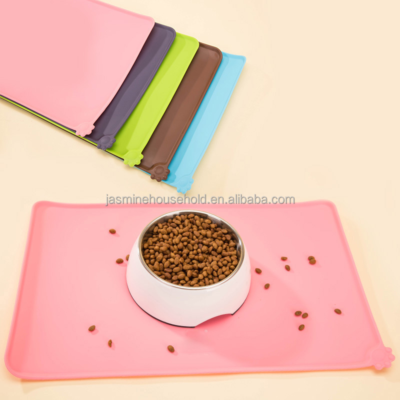 Large Pet Food Mat Feeding Mat Dog Bowl Placemat Silicone Pet Mat
