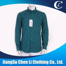 Customized professional wholesale cotton printed men's dress shirt