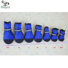 Waterproof Pet Dog Shoes PVC Bottom Non Slip Winter Dog Warm Boots