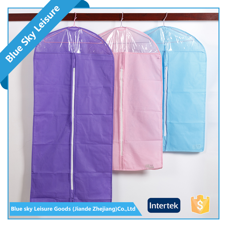 Colorful PP Non-woven Fabric Foldable Portable Waterproof Hanging Garment Bag