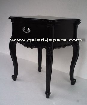 Antique Mahogany Furniture - French Louis Nightstand - Black Furniture Indonesia