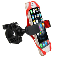Novelty Flexible Funny Cell Phone Holder For Bike With Silicone Band