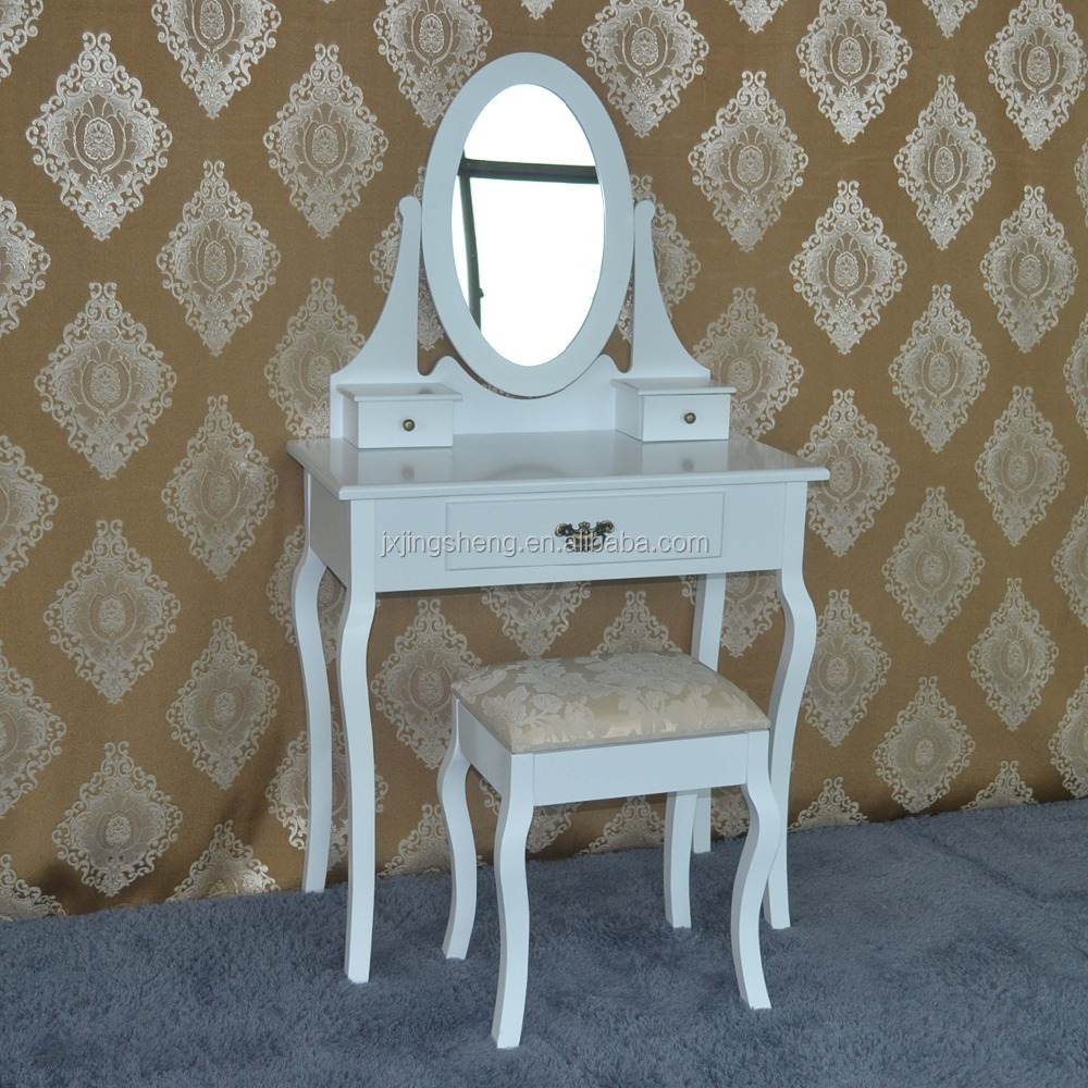 Varsace furniture modern design rubber wooden white dresser, makeup table for bedroom furniture