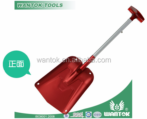 adjustable handle aluminium snow shovel