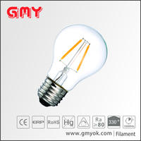 Vintage LED Filament Bulb A17 2W , Medium Screw E26 Base, Clear Soft White 2700K,