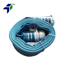 Heavy Duty 25-300mm Blue Pvc Lay Flat Hose/Agricultural Irrigation Pipe Price Sale