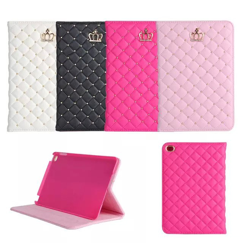 High quality Crown leather tablet Case for iPad Mini 4, for apple ipad mini 4 flip case stand