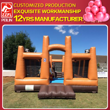 ZZPL Cheap prices Outdoor bouncy castle/obstacle jumping castle for sale
