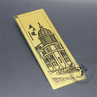 Chemical Etching Golden Metal Crafts Bookmark