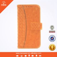 Hot sell fashion PU oil waxed leather custom design cell phone cover case