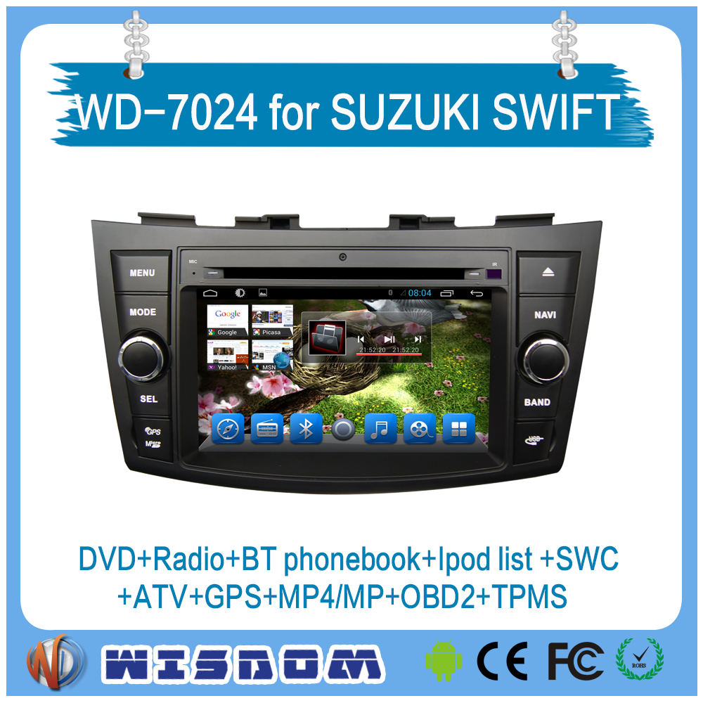 2016 factory price for suzuki swift touch screen car stereo car dvd player with auto gps navigation bluetooth
