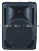 15 inch plastic professional audio speaker with power