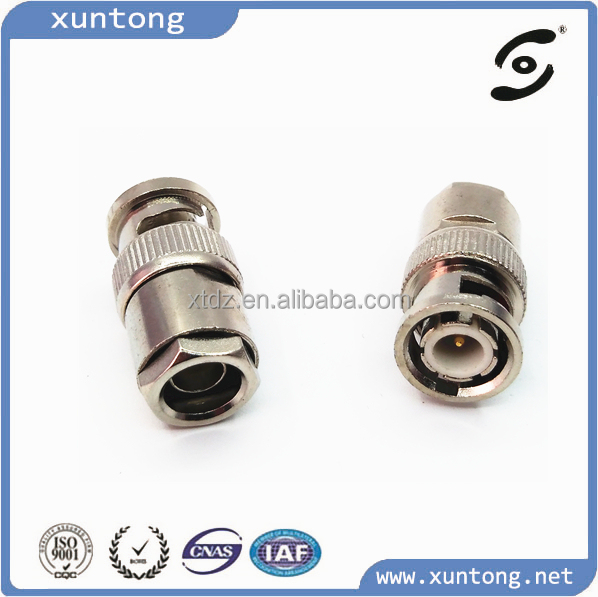 BNC Male Connector Clamp Attachment For rg316 CABLE