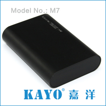 KAYO M7 USB Rechargeable battery charger for mobile phone,power bank external battery charger,mobile backup battery