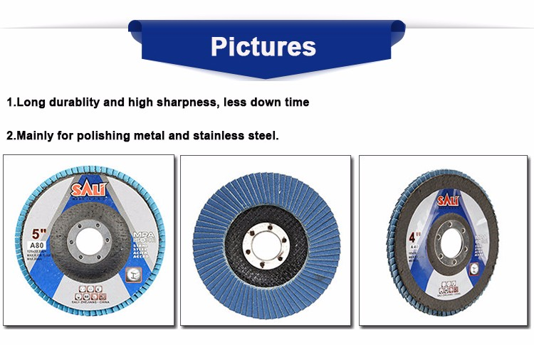 Sharpness T27 Grit 40 Zirconia Flexible Abrasive Flap Disc, Abrasive Flap Wheel