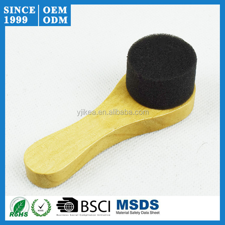 Wholesale Wooden <strong>Handled</strong> Shoe Shine Sponge Instant Shoe Polish Sponge