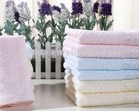 100% wholesale Organic cotton solid color hand hotel bath towels