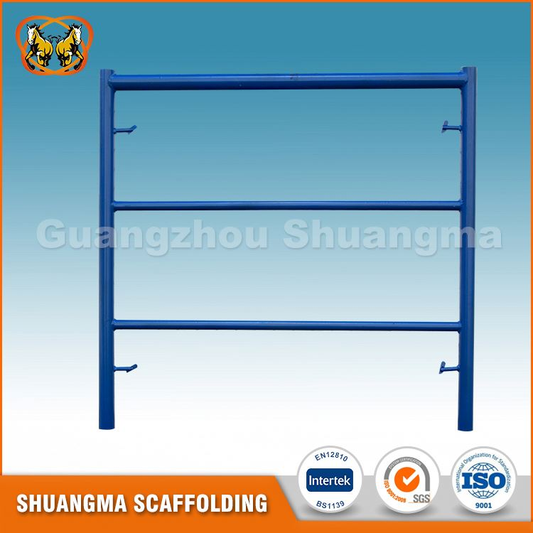 Easy to erect and movable indoor scaffolding for building decoration