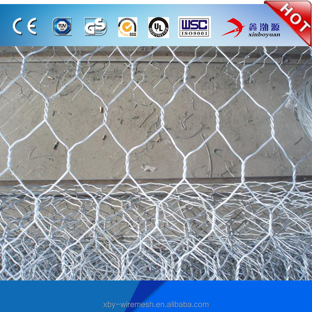 Factory price erosion control 2*1*0.5m hexagonal gabion box for sale