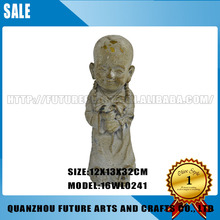 Custom Cute Shaolin Monk Statue For Home Decoration (16WL0241)