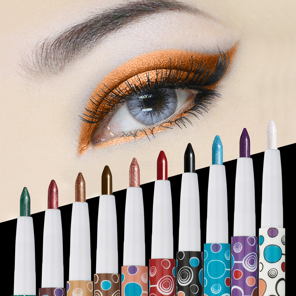 The latest 10 color eye shadow pen, 10pcs per box. Matte eyeshadow. <strong>Cosmetics</strong>, factory direct supply