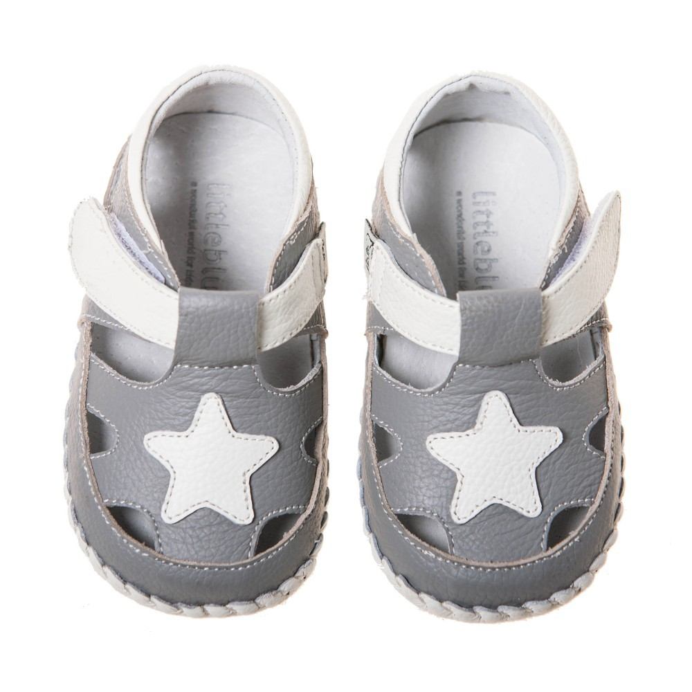 leather with star baby shoe BB-B3518GY