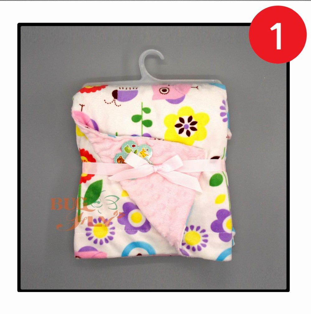 China Wholesale Soft Hand Feeling Personalized Dimple Print Baby Blanket