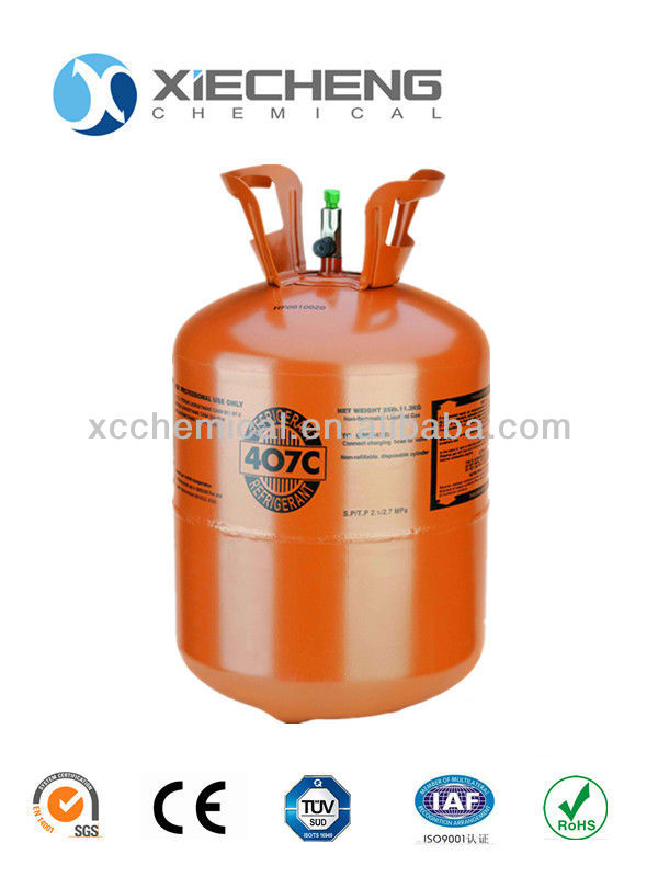 refrigerante r407c with 99.9% Purity 25lb cylinder