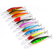 11.5 cm 10.5g 10 colours Hot sale Hard Plastic Floating Minnow <strong>Fishing</strong> Lures,Long tongue Artificial <strong>Fishing</strong> <strong>Bait</strong>