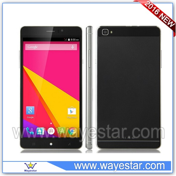 Most slim 6 inch mobile phone mtk6580 Android 5.1 3g wifi dual sim card slots