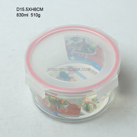 most popular food grade 400ml round glass airtight preserving box/storage bowl