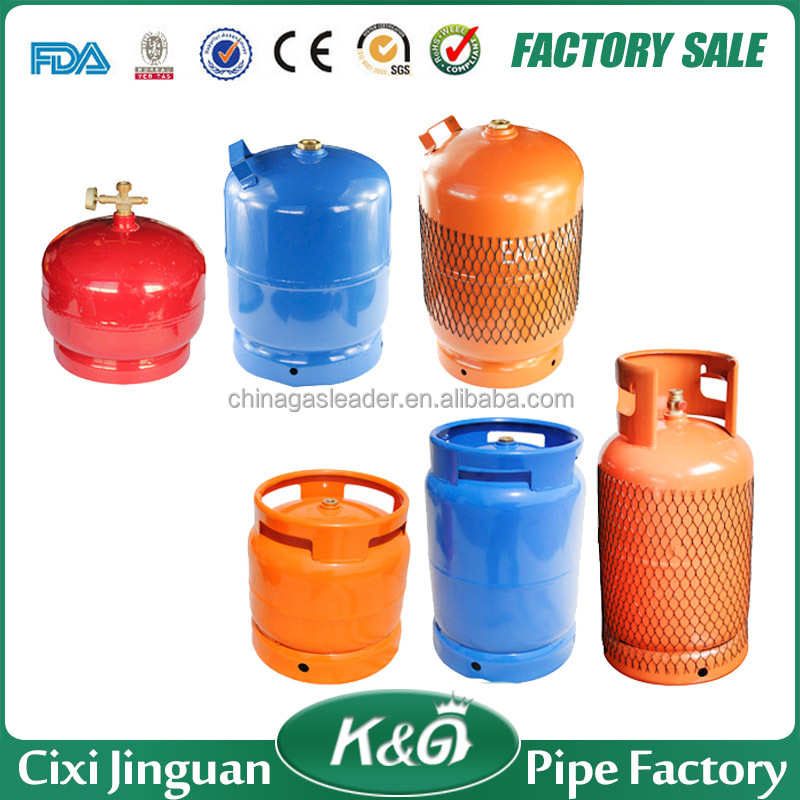 Portable 2kg/ 3kg/ 5kg/ 6kg/ 10kg/ 12.5kg LPG gas cylinder parts, empty lpg gas cylinder prices sale, gas tank for cooking