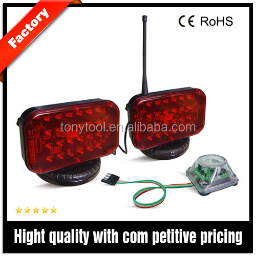 Wireless Tow-Lights and remote controlled warning light