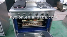 Convection oven Stainless Steel Kitchen Gas Range with grill and Ion Induction ignition system