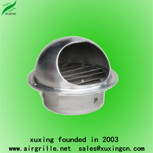 Stainless steel louvered wall air vents mushroom vent