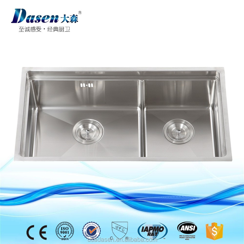 DS 7843H China Supply OEM Single bowl kitchen built-in drainboard foldable Camping Sink