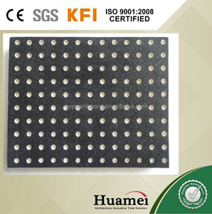sunk-proof perforated black fiberglass ceiling for decoration