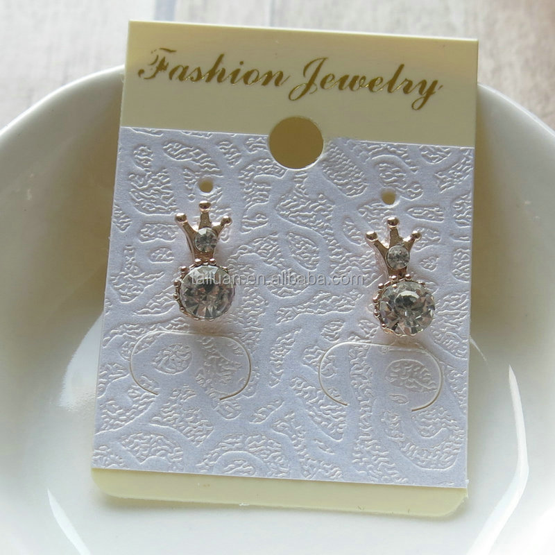 Wholesale Crystal Tiny Crown Stud Earrings Bijuteria