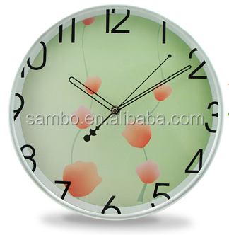 Logo Design Wall Clock Plastic
