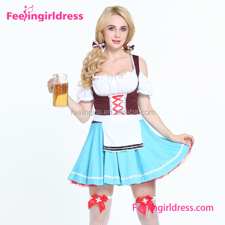 wholesale adult cheap sexy carnival halloween beer maid costume patterns