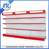 New Type Perforated Back Panel Round Supermarket Gondola Shelf