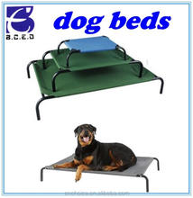 easy carry pet accessories waterproof seat fabric metal dog bed for outdoor travel