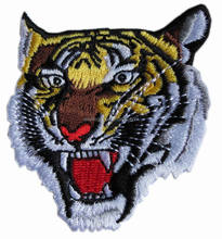 Tiger Head Large Motorcycle Embroidery Patch