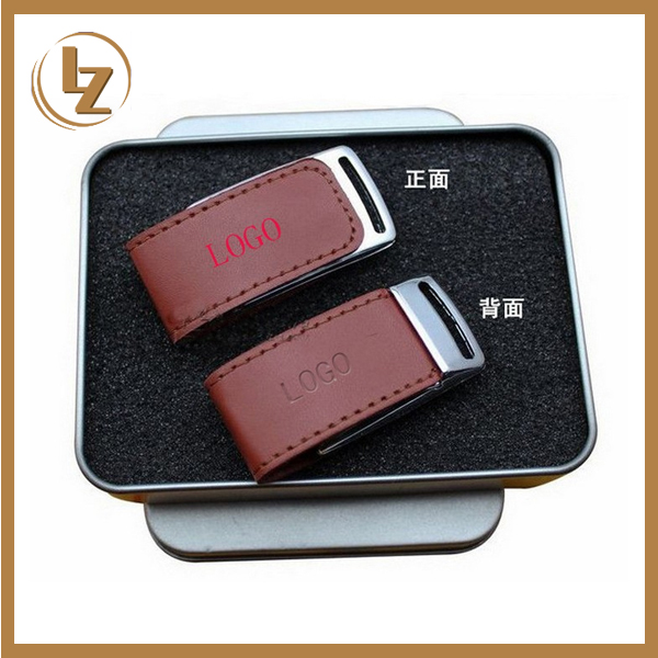 Cheap Price Good Quality Popular Style Leather USB Flash Drive with Customized Logo