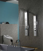 Bathroom mirror finish stainless steel vernet vale shower wall panel S9020