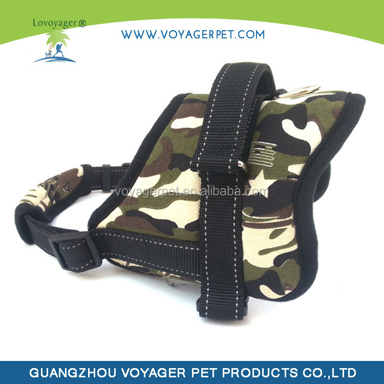 Lovoyager Warm Camo Pet Neoprene Clothes Dog Harness Vest pattern